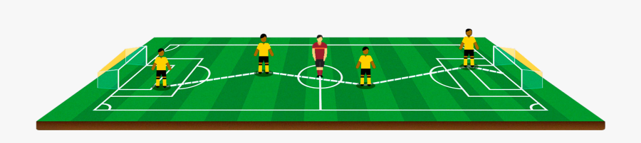 Pitch Drawing Stadium - Cartoon Football Field Png, Transparent Clipart