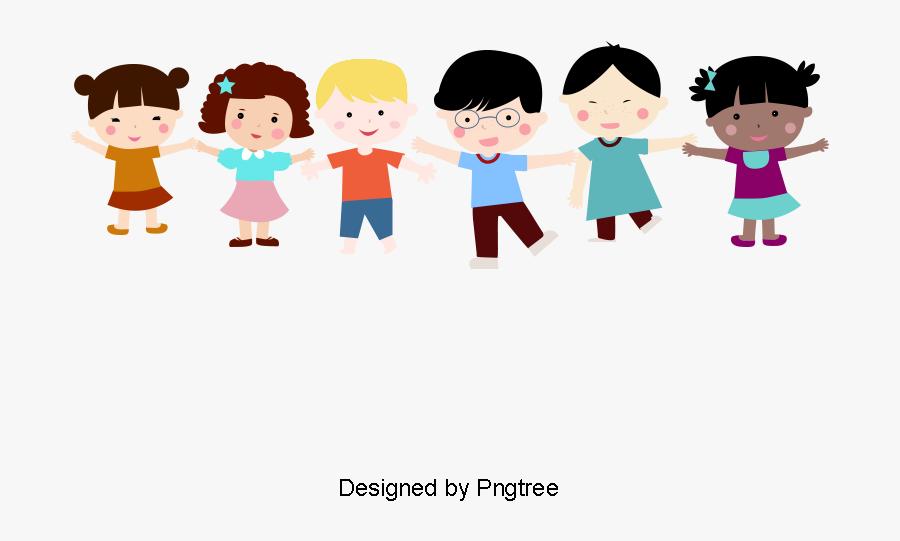 Kids Holding Hands Png, Transparent Clipart