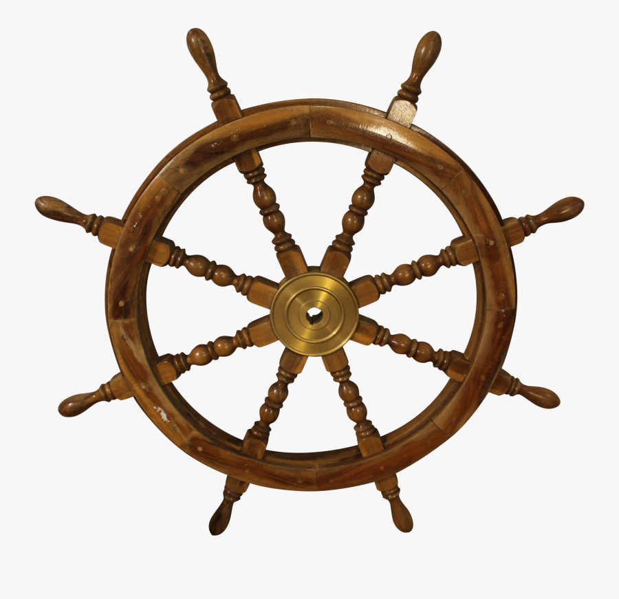 Architectural Nautical Salvage Chairish - Pirate Ship Wooden Steering Wheel, Transparent Clipart