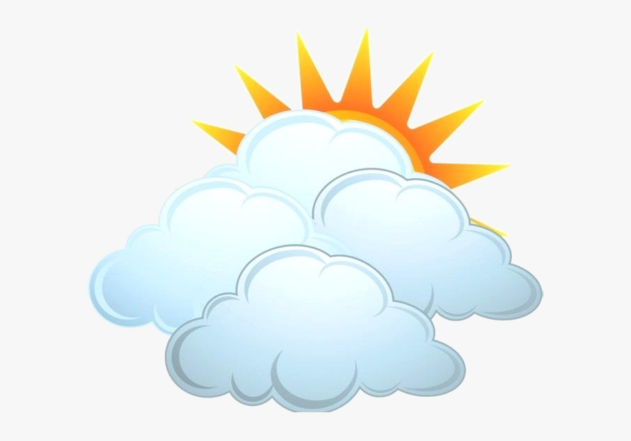 Partly Cloudy Clipart Image With Rain Transparent Png - Partly Cloudy Clip Art, Transparent Clipart