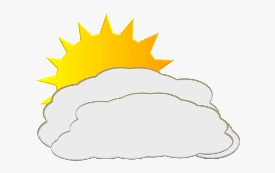 Free Download Partly Cloudy Weather Gif Clipart Weather - Partly Cloudy Symbol, Transparent Clipart