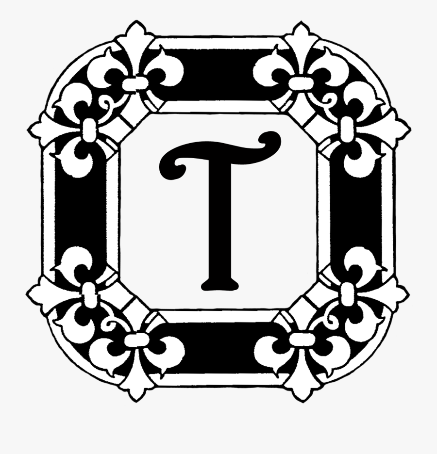 This Last Monogram Is Something I Made In Photoshop - Illuminated Lettering Black And White, Transparent Clipart