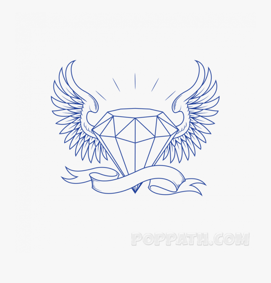 Diamond With Crown Drawing, Transparent Clipart