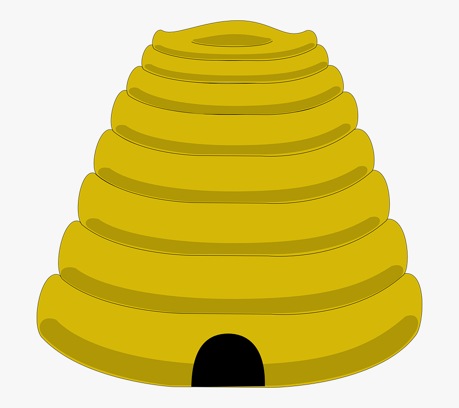 Beehive Clipart Clip Art - Bee Hive Template Yellow, Transparent Clipart