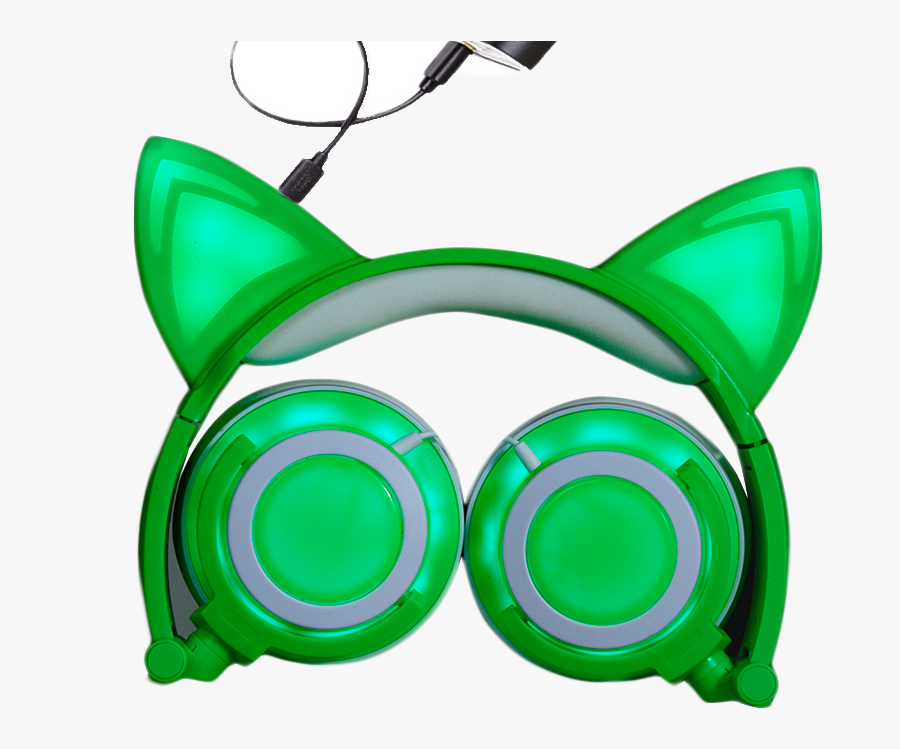 Vector Freeuse Download Clip Headphones Cat Ear - Headphones, Transparent Clipart