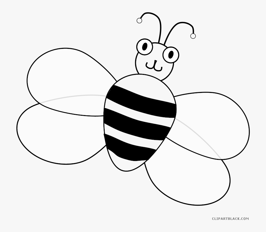 Honey Bee Clip Art The Buzzing Bee Vector Graphics - Cartoon Animals With Wings, Transparent Clipart