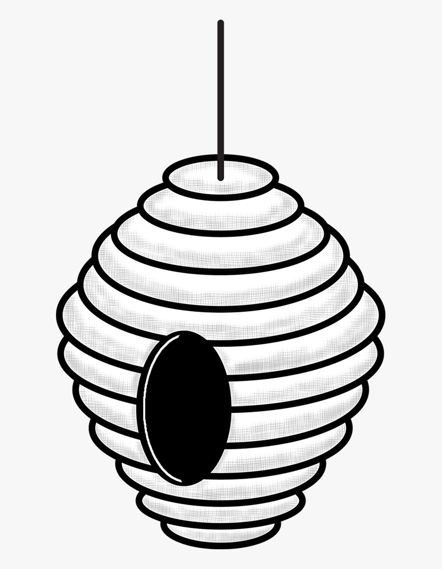 Outline Bee Hive Clip Art, Transparent Clipart