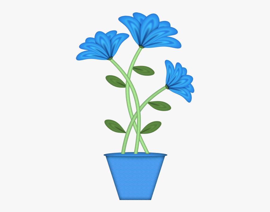 Potted Plant Different Flower Plants Clipart, Transparent Clipart