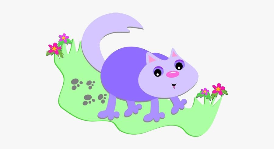 Footprints Drawing Cute - Cat, Transparent Clipart