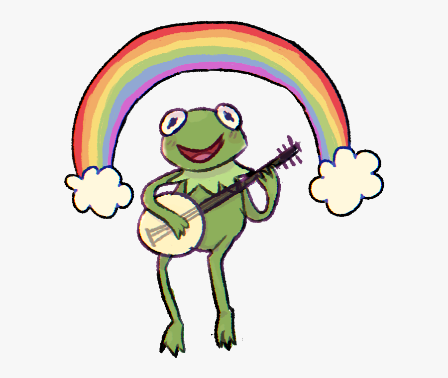 Kermit The Frog Rainbow Drawing, Transparent Clipart