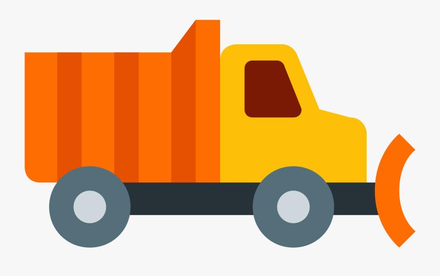 Woman In Snow Plow Truck Cartoon Clipart Vector - FriendlyStock