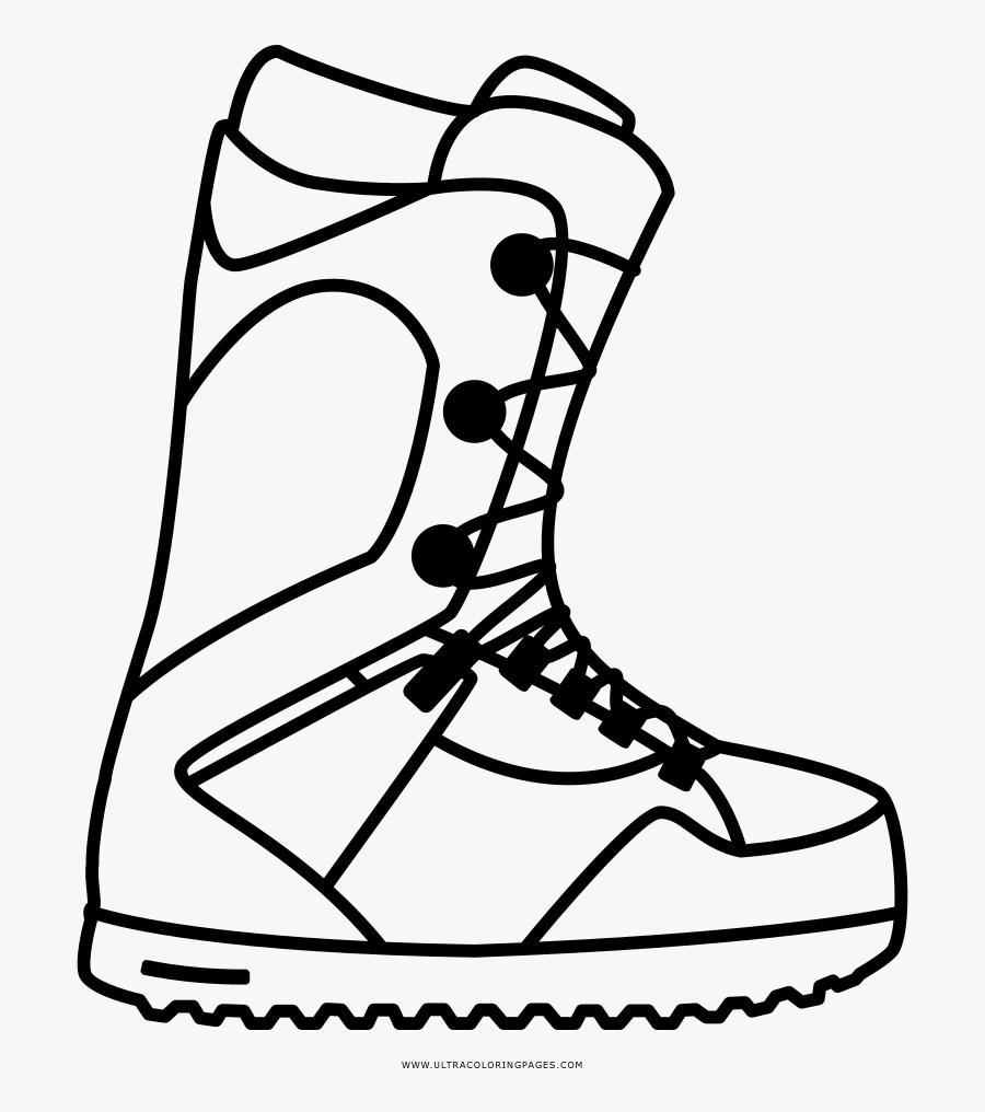 Snowboard Boots Clipart Black
