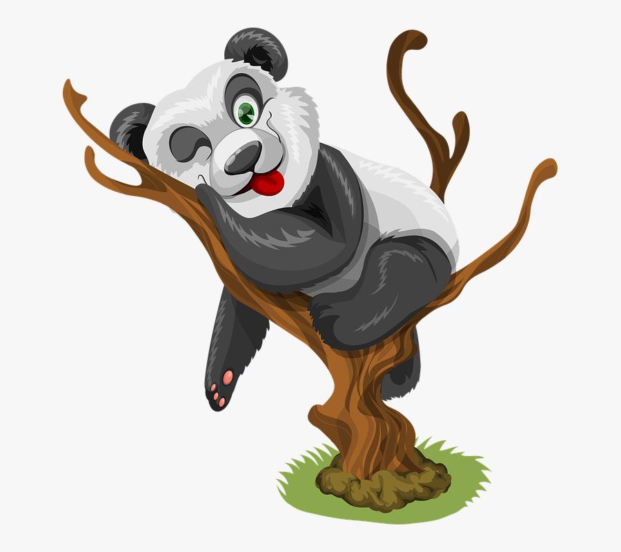 Panda, Little Panda, Baby Panda, Baby, Little, Cute - Cute Panda Good Morning, Transparent Clipart