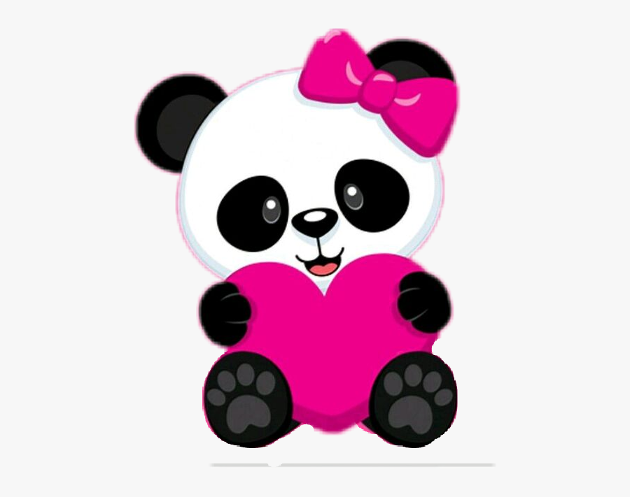 #baby #panda #herz #cute #süß #love #tier #freetoedit - Panda Png, Transparent Clipart