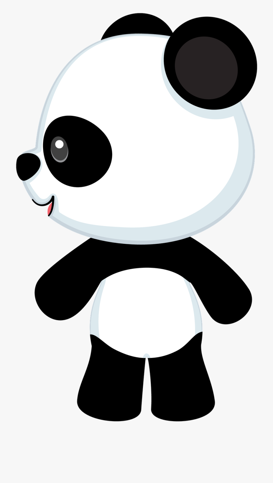 Cute Girl Pandas In Cartoon, Transparent Clipart