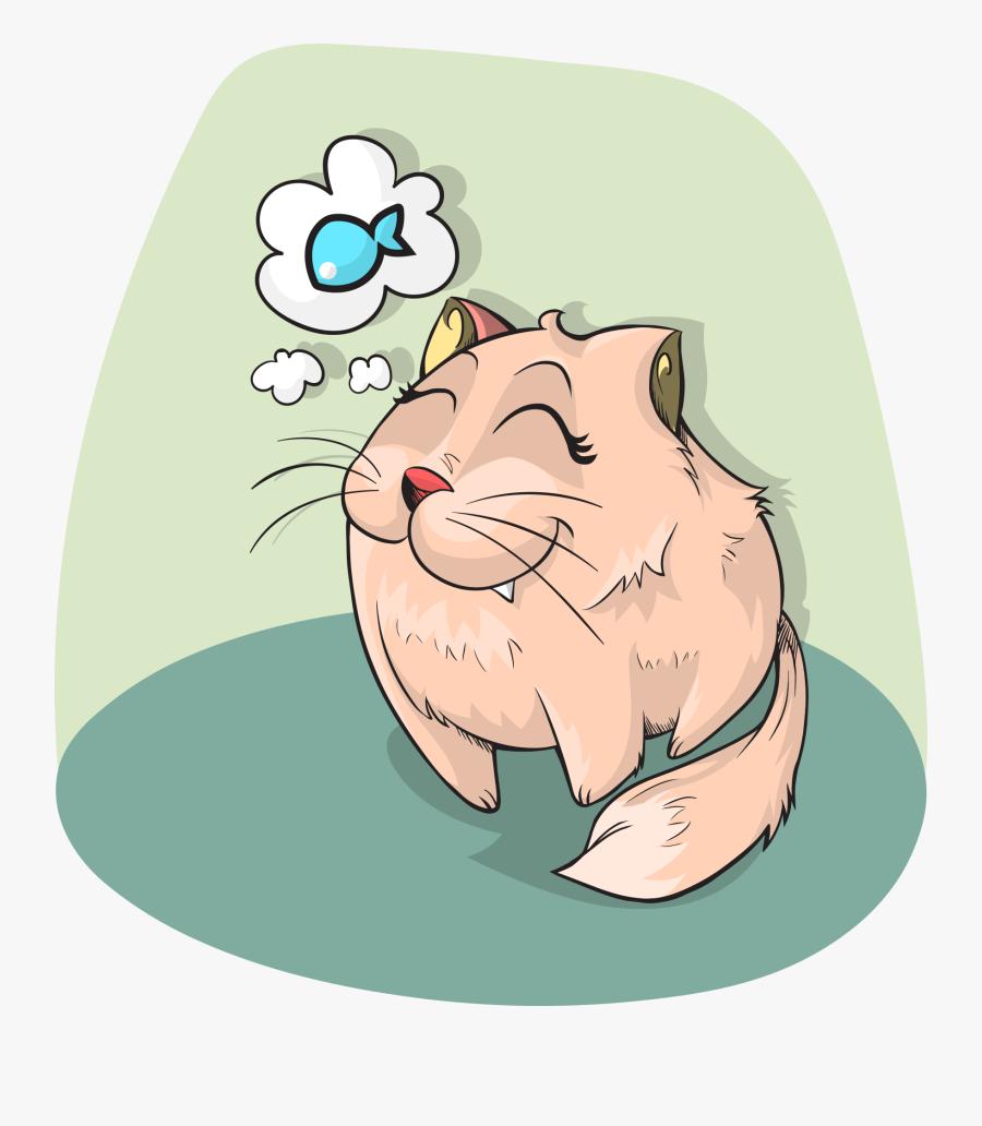 Cat Food, Best Cat Food, Kitten Food, Cat Food Brands, - Cat Eating Tuna Cartoon, Transparent Clipart