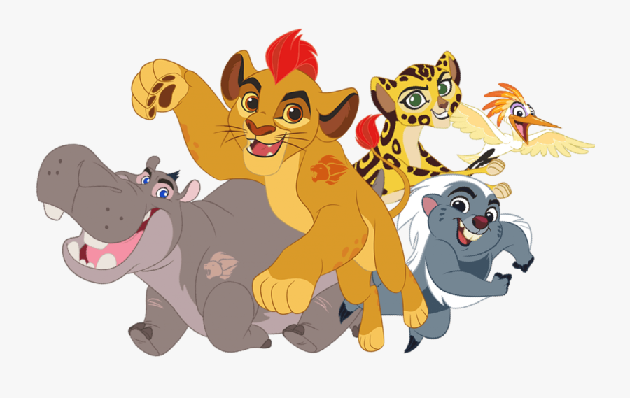 Lion Guard Protectors Of The Pridelands Characters - Lion Guard Main Characters, Transparent Clipart