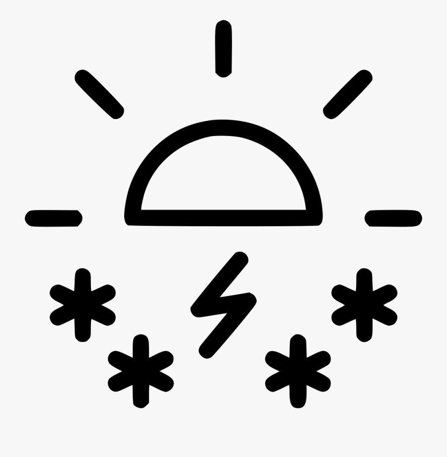 Day Daytime Snow Storm Sun Weather Comments - Transparent Clip Art Snowing Icon, Transparent Clipart