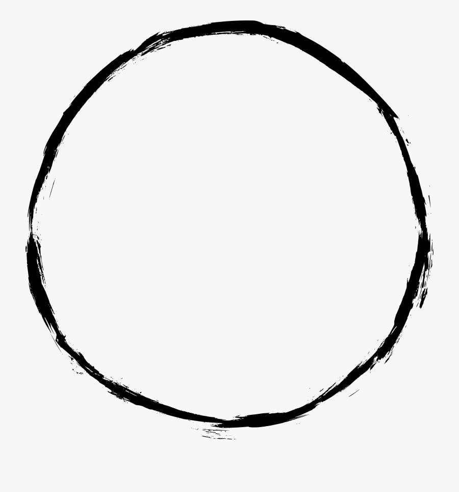 Black Circle Outline Png, Transparent Clipart