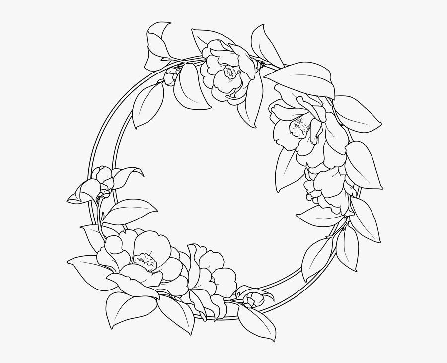 #outlines #outline #circle #frames #frame #border #borders - Round Flower Border Design, Transparent Clipart