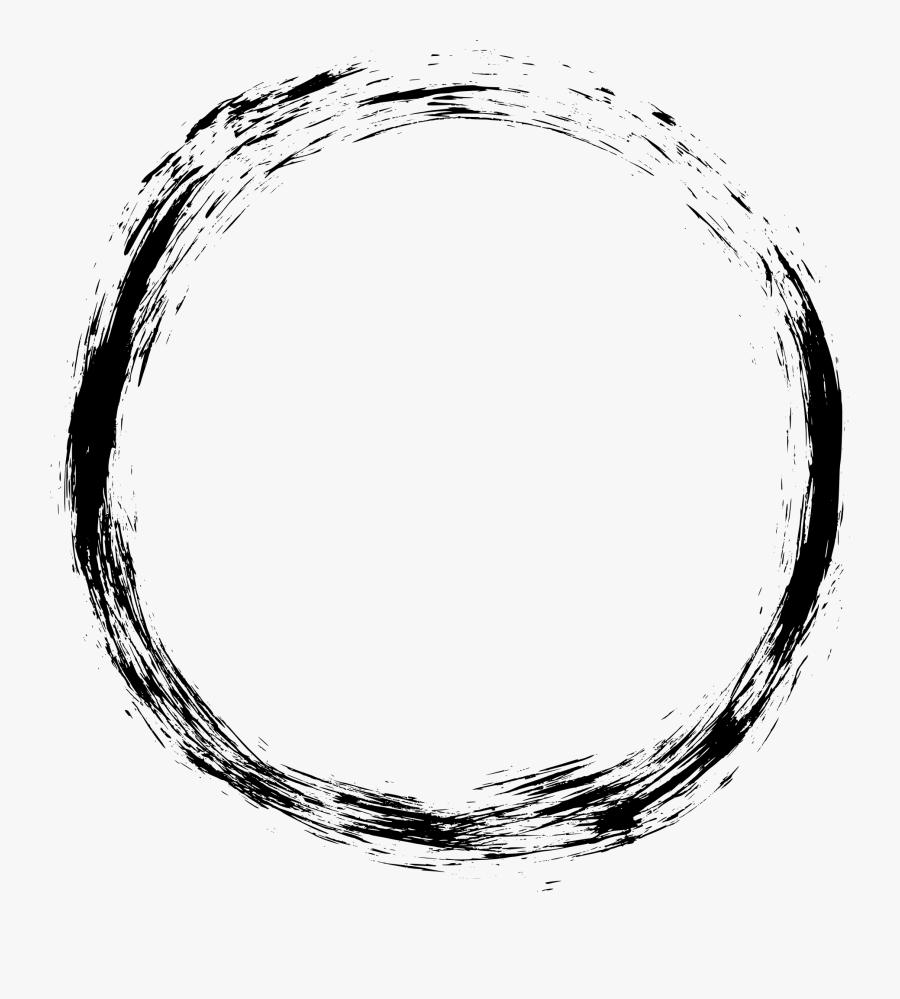 Black Circle Frame Png, Transparent Clipart