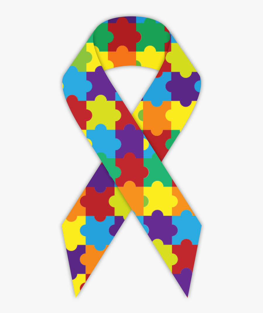 Clip Art Collection Of Free Ribbon - Autism Awareness Icon Pdf, Transparent Clipart