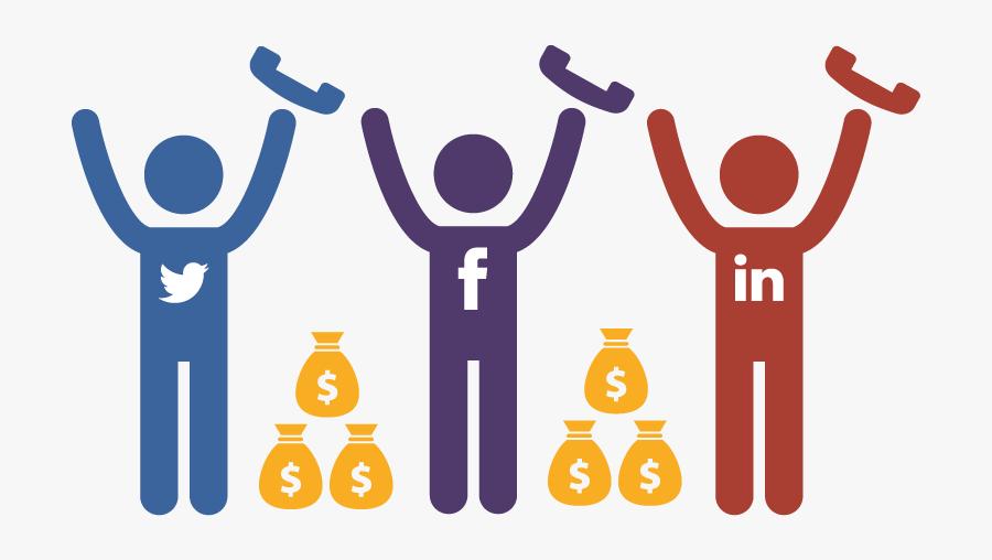 Winning Social Sales People - Social Media Sales Png, Transparent Clipart