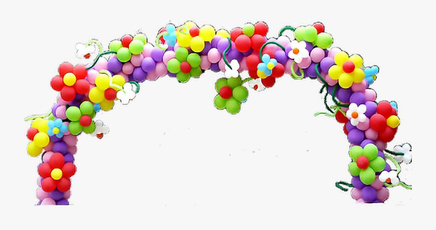 #birthday #party #balloon #balloons #balloonsculptures - Flower Balloon Arch, Transparent Clipart
