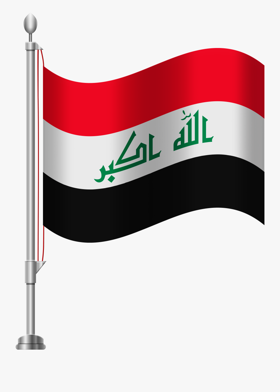 Black And White Flag Iraq, Transparent Clipart