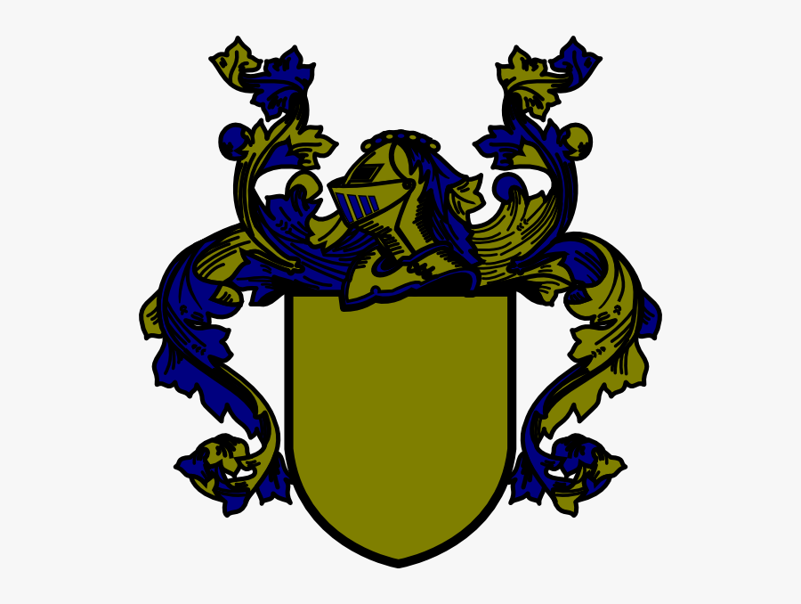 Teal Coat Of Arms, Transparent Clipart