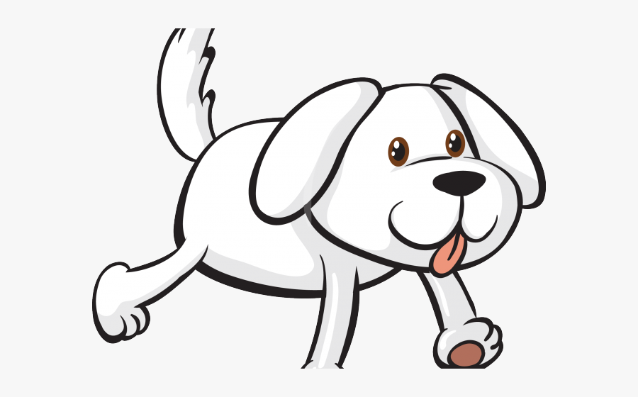 Brown And White Dog Cartoon Free Transparent Clipart Clipartkey