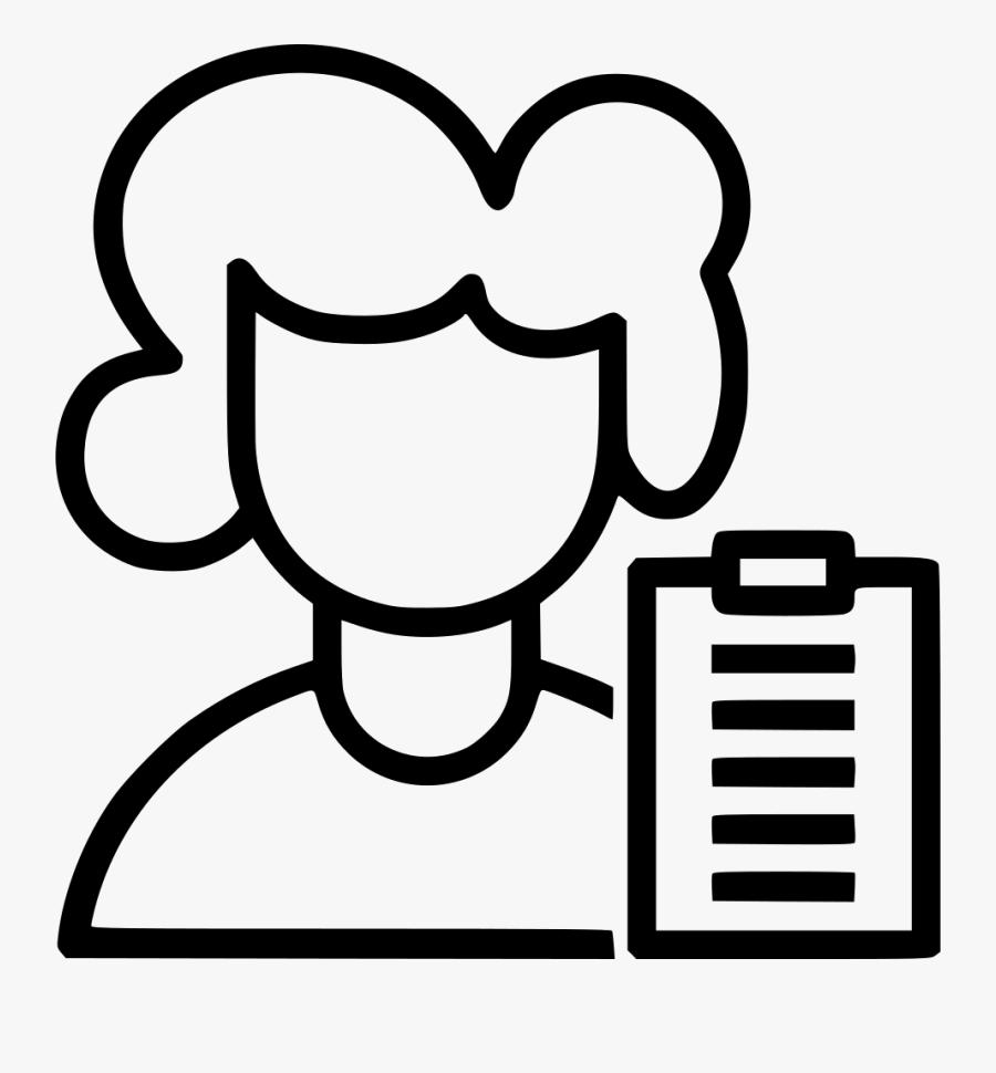 Teacher Note Professor Tutor Education Teaching Ladytutor - Give Note To Teacher Icon, Transparent Clipart