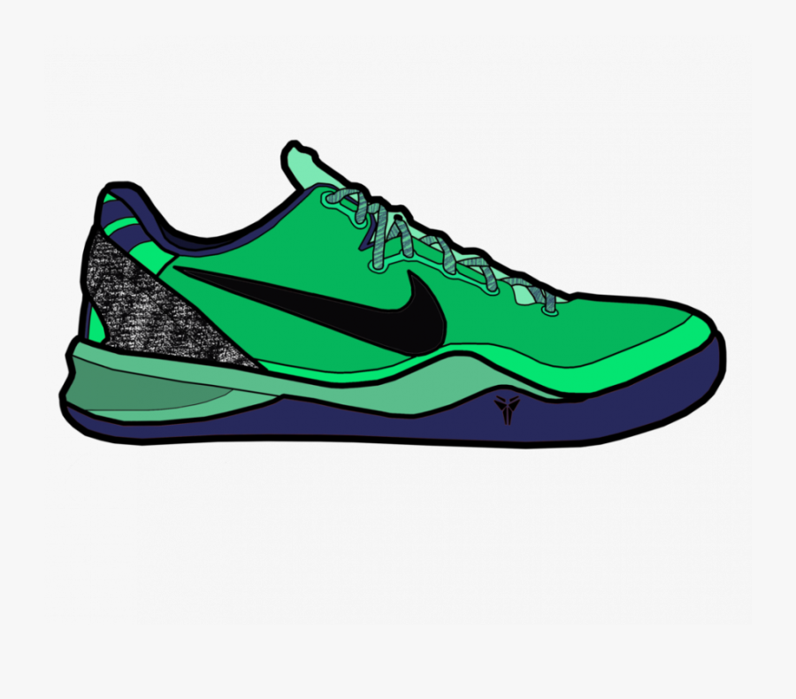 Kobe Bryant Shoes Drawing, Transparent Clipart