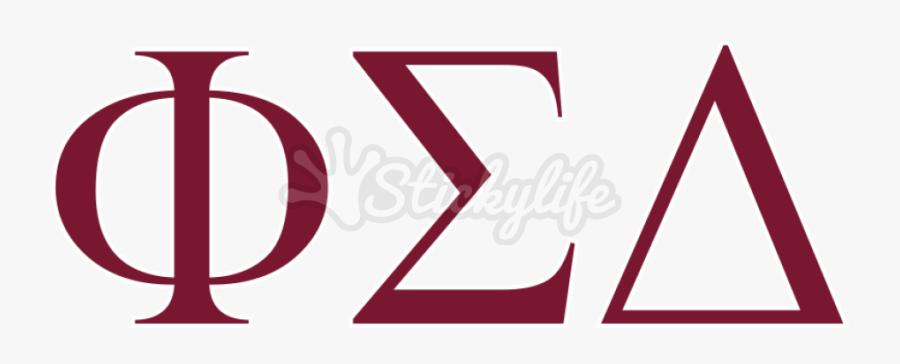 Phi Sigma Delta Vinyl Lettering - Triangle, Transparent Clipart