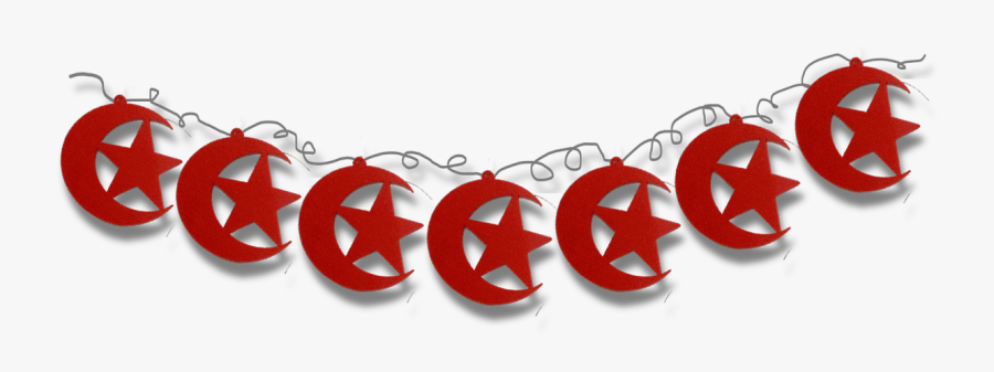 Moon And Star Garland - Ramadan Hanging Decorations, Transparent Clipart