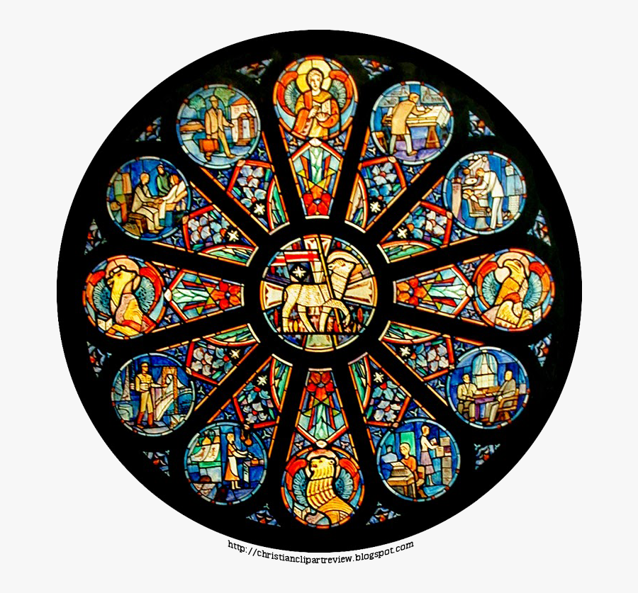 Stained Glass Agnus Dei, Transparent Clipart
