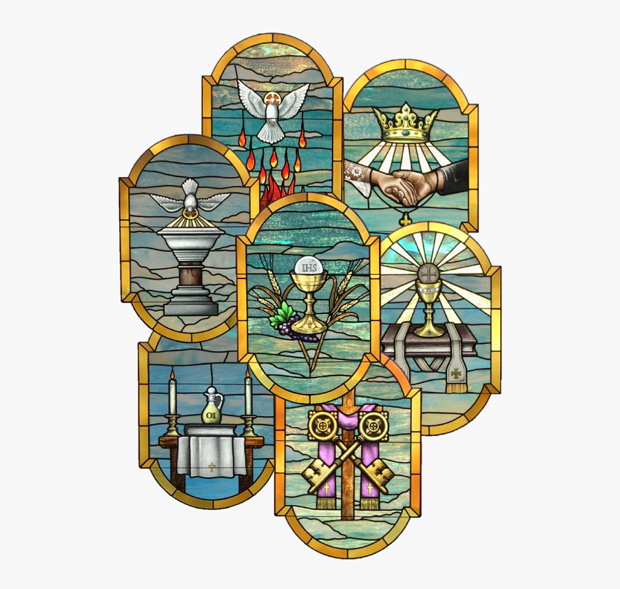 Catholic Stained Glass Window Png Image - Catholic Stained Glass Window Designs, Transparent Clipart