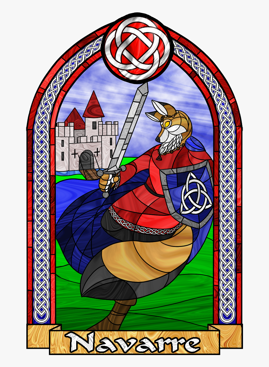 Navarre Window Badge - Stained Glass, Transparent Clipart