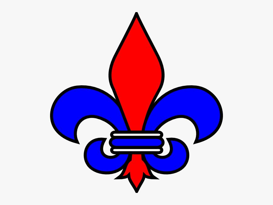 Burgundy Fleur De Lis, Transparent Clipart