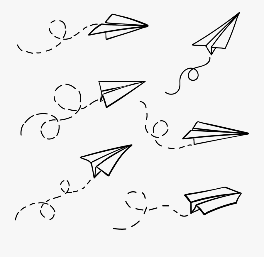 Paper Airplane Doodle Png Free Transparent Clipart Clipartkey