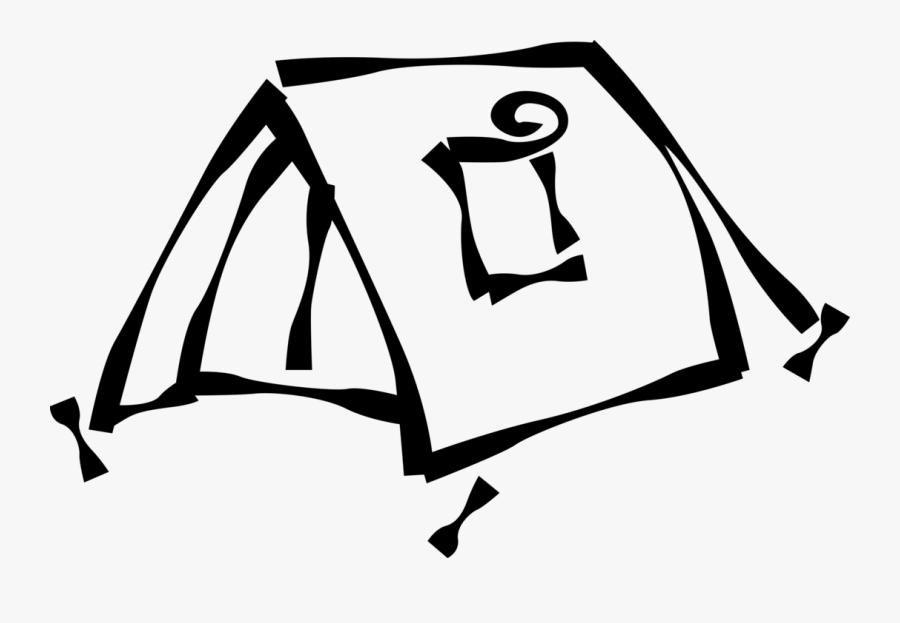 Vector Illustration Of Outdoor Recreational Activity - Tent Clip Art, Transparent Clipart