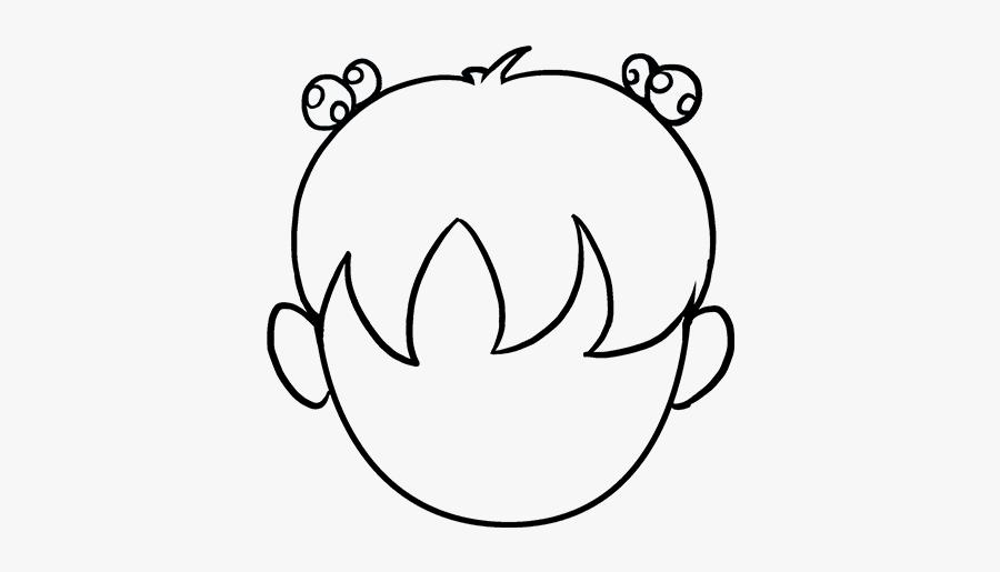 How To Draw Cartoon Hair - Draw Easy Hair, Transparent Clipart