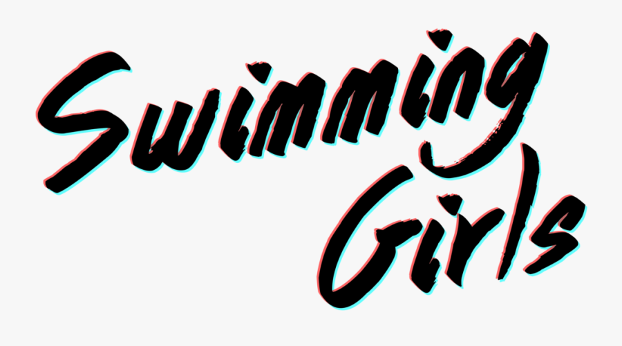 Swimming Girls Logo, Transparent Clipart