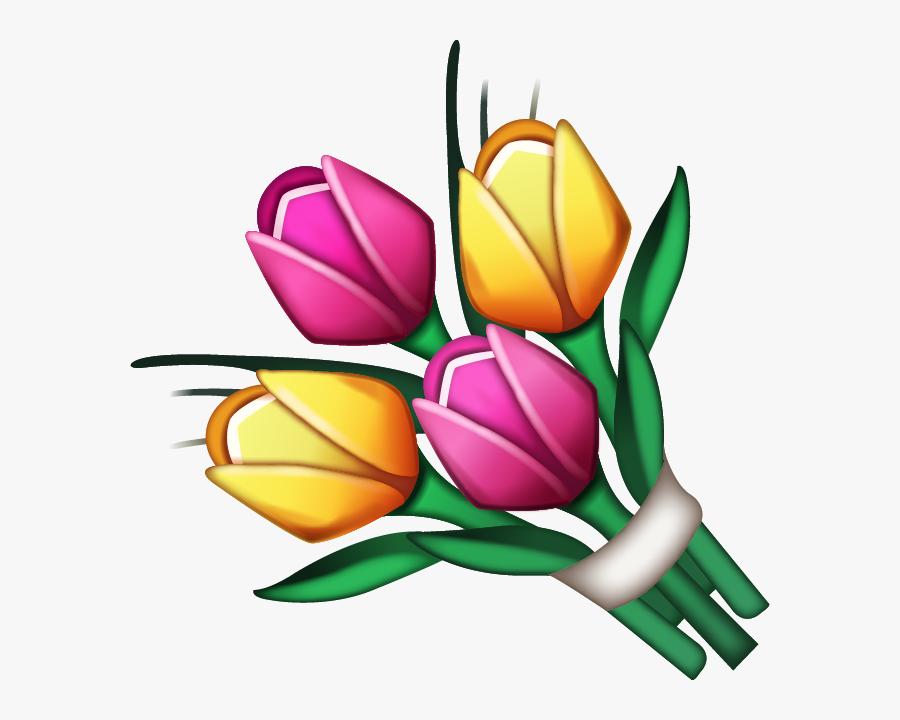 Flowers Emoji Png, Transparent Clipart