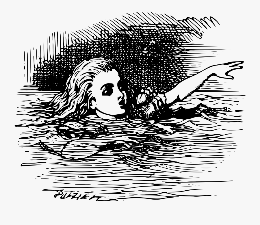 Alice In Wonderland - Alice In The Pool Of Tears, Transparent Clipart
