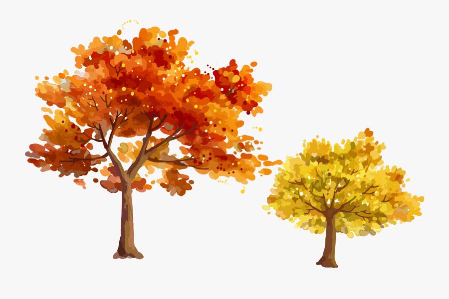 Autumn Tree Leaf - Autumn Tree Png Vector, Transparent Clipart