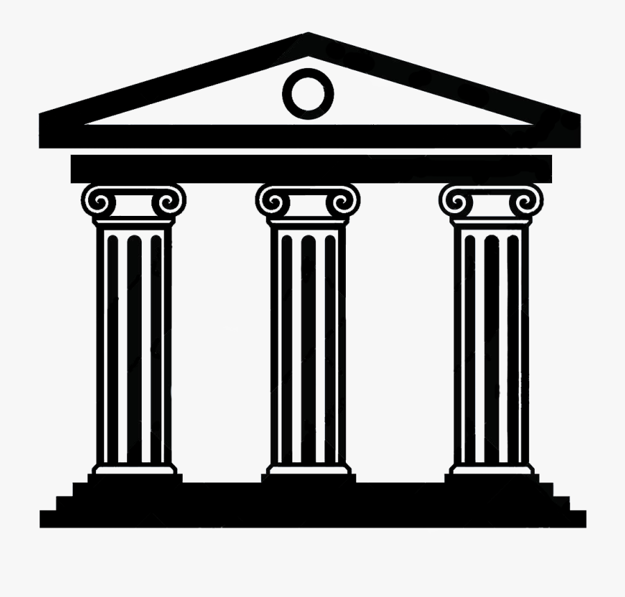Silhouette Of A Temple Facade - Ancient Rome And Greece Clipart Png, Transparent Clipart