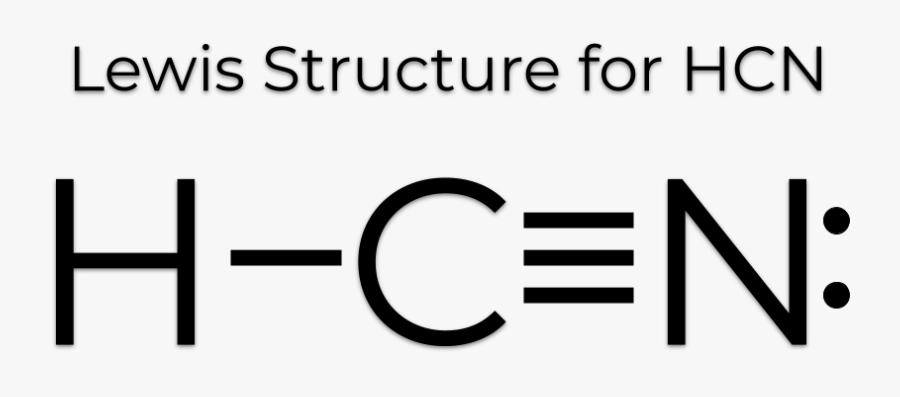 Hydrogen Cyanide Lewis Structure, Transparent Clipart