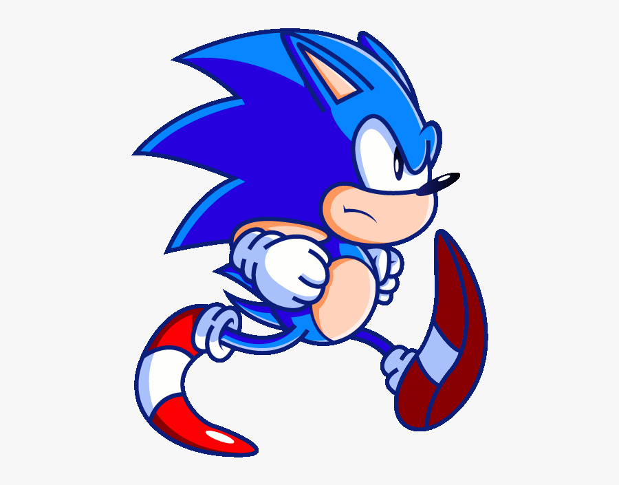 Sonic The Hedgehog Clipart Animation Classic Sonic Run Gif Free Transparent Clipart Clipartkey