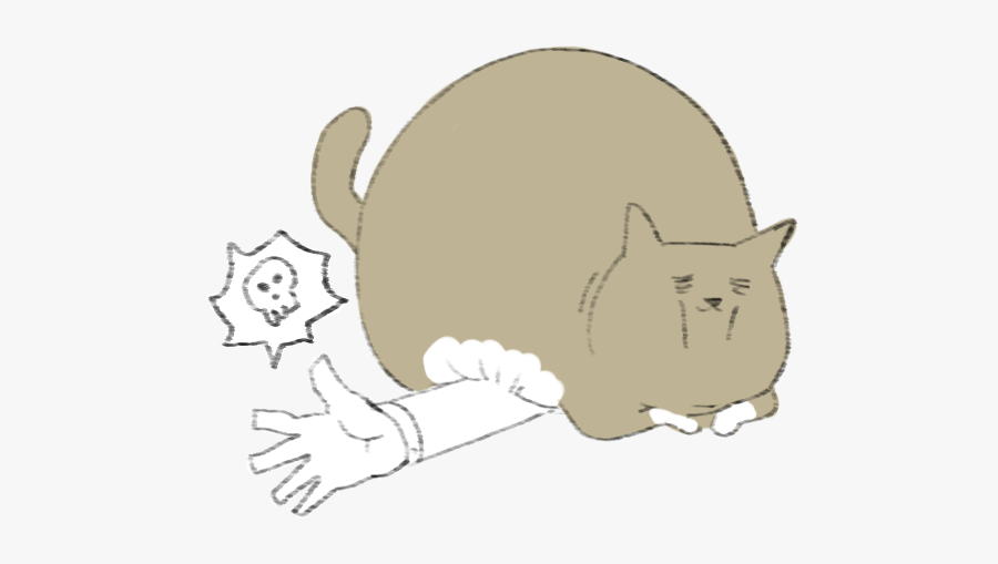 Lazy Fat Cat Messages Sticker-11 - Cartoon, Transparent Clipart